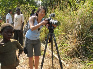 Jessica Yu behind the camera