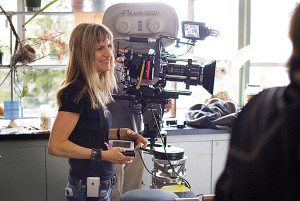 Director CATHERINE HARDWICKE on the set of the motion picture TWILIGHT. Photo by Deana Newcomb, Summit Entertainment (Via MerlinFTP Drop)