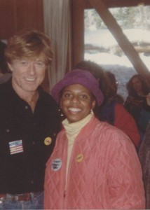 Leslie Harris with Redford