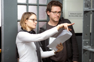 Director Jodie Foster (L) behind the scenes of NetflixÕs ÒOrange is the New BlackÓ Season 2. Photo credit: Jessica Miglio for Netflix.