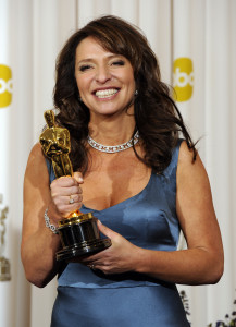 Best Foreign Language Film winner director Susanne Bier poses with her Oscar at the 83rd annual Academy Awards in Hollywood on February 27, 2010. UPI/Phil McCarten