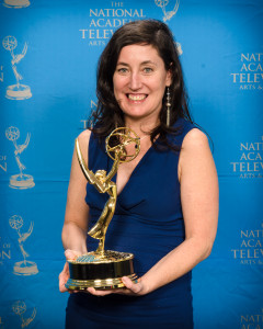 Heather Courtney of POV on PBS, winner of 'Where Soldiers Come From', for OUTSTANDING CONTINUING COVERAGE OF A NEWS STORY – LONG FORM at the 33rd Annual News & Documentary Emmy Awards; 10/1/12
